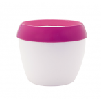 LOLLYB13-400 Кашпо LOLLYPOT Exclusive d13; h13 см 1,5 л белый/фуксия (fuchsia/white) ()