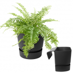 ELHO Кашпо с крепл. greenville plant hanger single d22 h14 см черный (living black) (ш/к 6560)